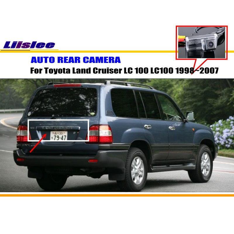 imágenes para Cámara de Estacionamiento del coche/Cámara de Marcha Atrás Para Toyota Land Cruiser LC 100 LC100 1998 ~ 2007/Cámara de Vista Trasera/Luz de la Matrícula del OEM