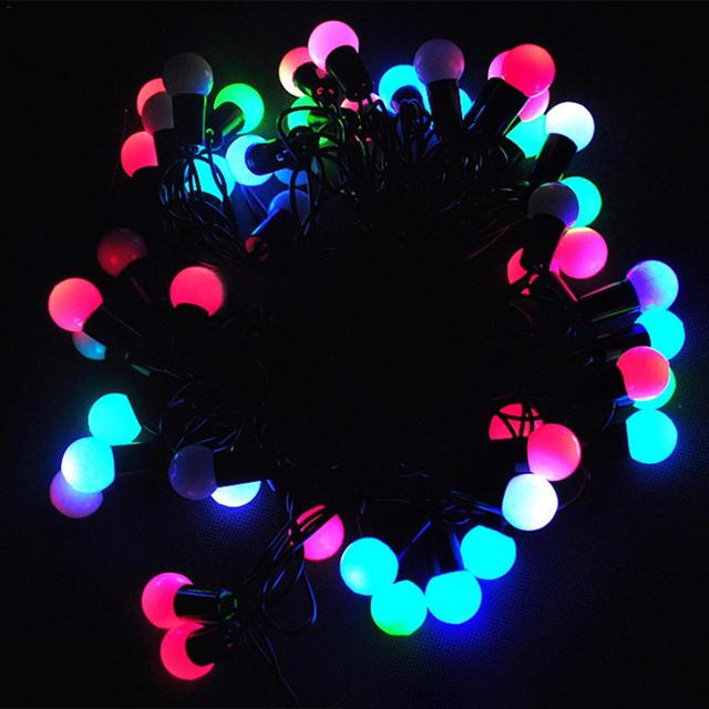 Kaigelin 5m 50 Led String Lights Waterproof Colorful Fairy Christmas Outdoor Lighting Chain Decoration