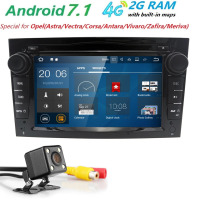 2 Din Quad Core 2GRAM 4G WIFI Black Sliver Gray Car Radio Dvd Gps Android 7