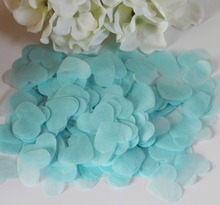 2300 Turquoise tissue paper throwing confetti