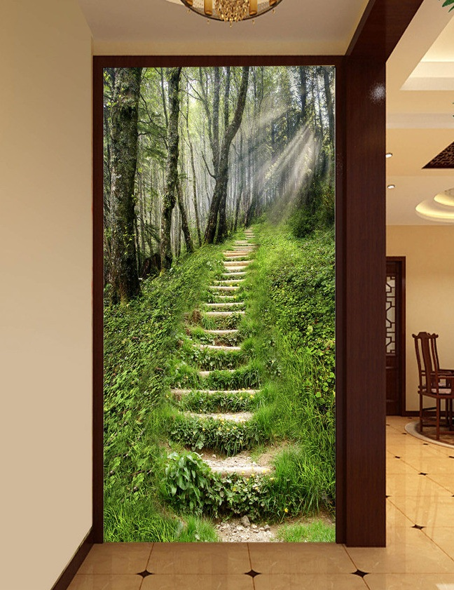 3d room wallpaper custom mural non-woven Wall sticker Hd 3 d sunshine forest path porch painting photo wallpaper for walls 3d 3d murals wallpaper hd paris window photo custom non woven sticker room sofa tv background wall painting wallpaper for walls 3d