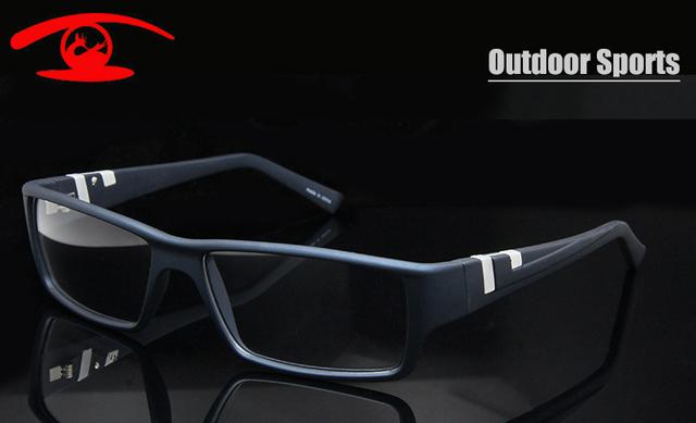 Novo 2015 Ao Ar Livre de Alta Qualidade Óculos de Armação Homens óculos de Memória TR90 Grandes Óculos de Armação de Prescrição Óculos Esportes