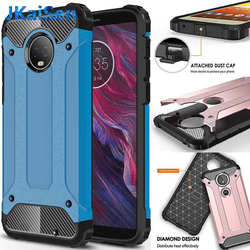 Para Motorola a prueba de choques de la armadura de la caja del teléfono de silicona para MOTO E5 E6 G4 G5 G6 G7 Z jugar más uno de funda trasera de TPU