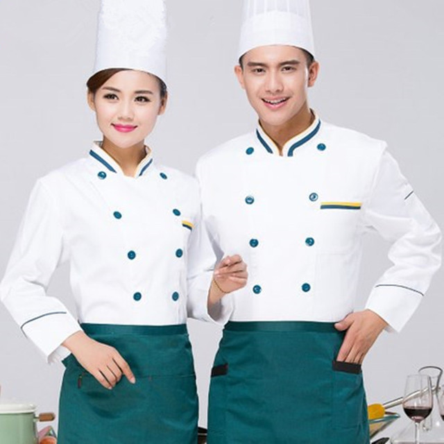 A Baru Musim Panas Dapur Chef Jaket Seragam Lengan Panjang Memasak Pakaian Pendek Hotel Makanan