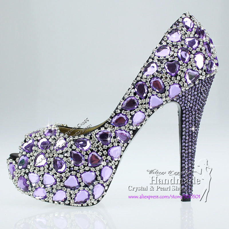 Aliexpress.com : Buy lilac shoes New arrive handmade crystal women