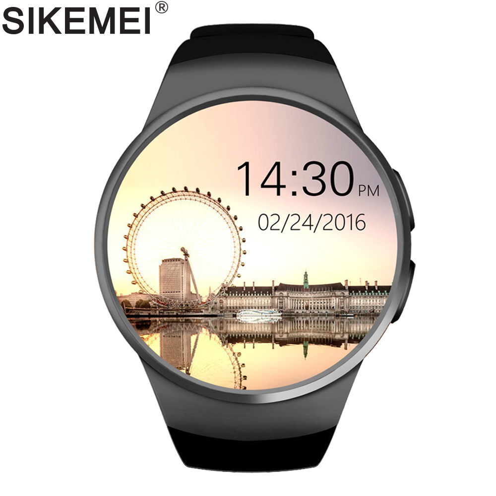 SIKEMEI SIM Smart Watch Phone Bluetooth Sport Smartwatch KW18 Touch Full Screen Support Heart Rate for iPhone iOS Android Xiaomi colorful hd screen cf006 smart watch bluetooth smartwatch touch screen smart watches for android phone ip67 gps heart rate