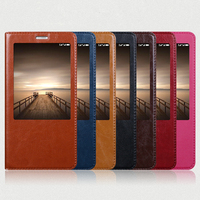 Hot For Xiaomi Redmi Note 3 High Quality Genuine Leather Smart Cover Case Window Luxury Flip