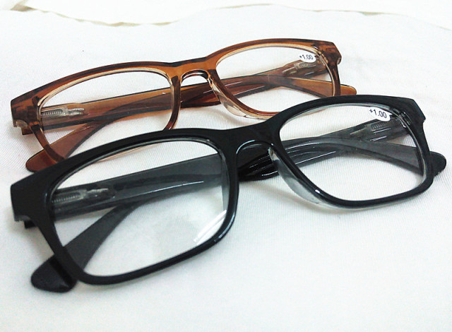226b8a43a52e Black Brown 2 Colors Big Round Horned Frame Thick Rim Men Womens Reading  Glasses Readers Presbyopia Diopter +1.0 2 3 4.0 1 2 3.5