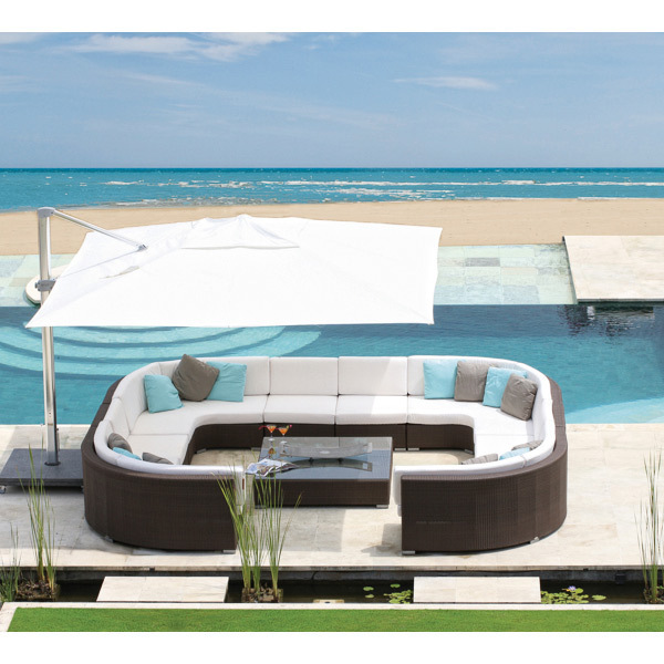 2017 Trade Assurance New arrival royal garden bali rattan outdoor round lounge furniture