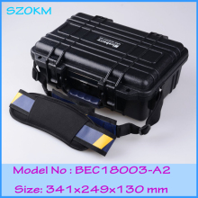 plastic tool box waterproof tool case IP68 security seal pistol case instrument case 341*249*130mm