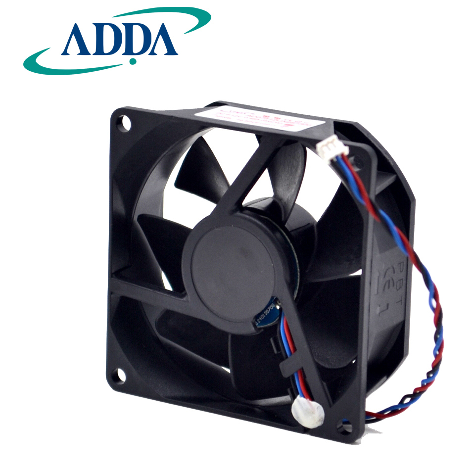 Free shipping original ADDA 7525 12V 0.46A 7cm AD07512UX257300 projector fan 10pcs free shipping taiwan original adda 5v 0 05a 2 5cm ultra precision cooling fan ad0205lb k50 2506 25x25x6mm