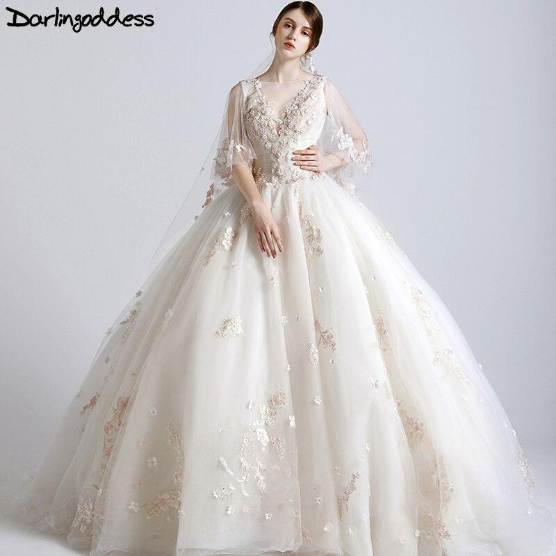 Nouveau Design De luxe robes De mariée 2017 princesse Corest robe De bal 3D fleurs robes De mariée africaines vraies Photos Vestidos De Novia