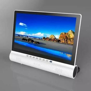 dawupine 15 Inches LCD TV DVB-T2 Soundbar Bluetooth Speaker USB HD 1080P Vedio Play Cable TV Broadcasting VGA Computer Monitor 8