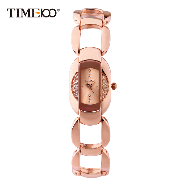 afe363504a6 Time100 Elegance Women Bracelet Watches Rose Gold Stainless Steel Diamond  Dial Waterproof Ladies Wrist Watches relogios