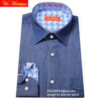 Male Long Sleeve Casual Jeans Blue Cotton Shirts Men S Big Size Casual Shirt Patch Pocket