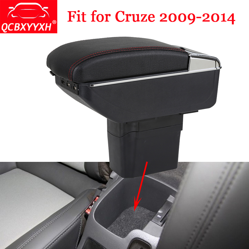 Car-Styling ABS Car Armrest Box Center Console Storage Box Holder Case Auto Accessories For Chevrolet Cruze 2009-2014 QCBXYYXH for chevrolet cruze battery fuse box sheet auto parts