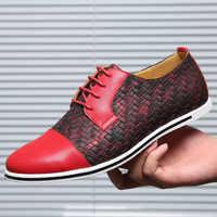 Men's Sneakers knitting Designer sneakers for men shoes Weave Size 45-50 Patchwork Massage fashion footwear man 2019