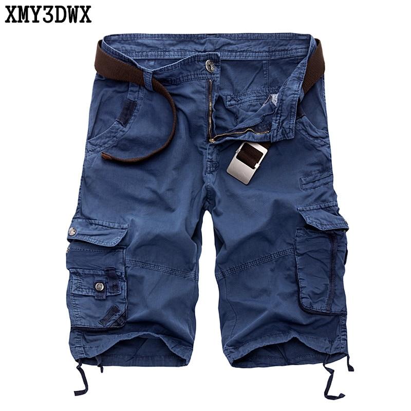 XMY3DWX מכנסי גברים 2019 קיץ באורך עגל מכנסי גברים מכנסי כותנה מזדמנים גברים בסגנון צבאי צבא טקטי מכנסי מטען ארוכים