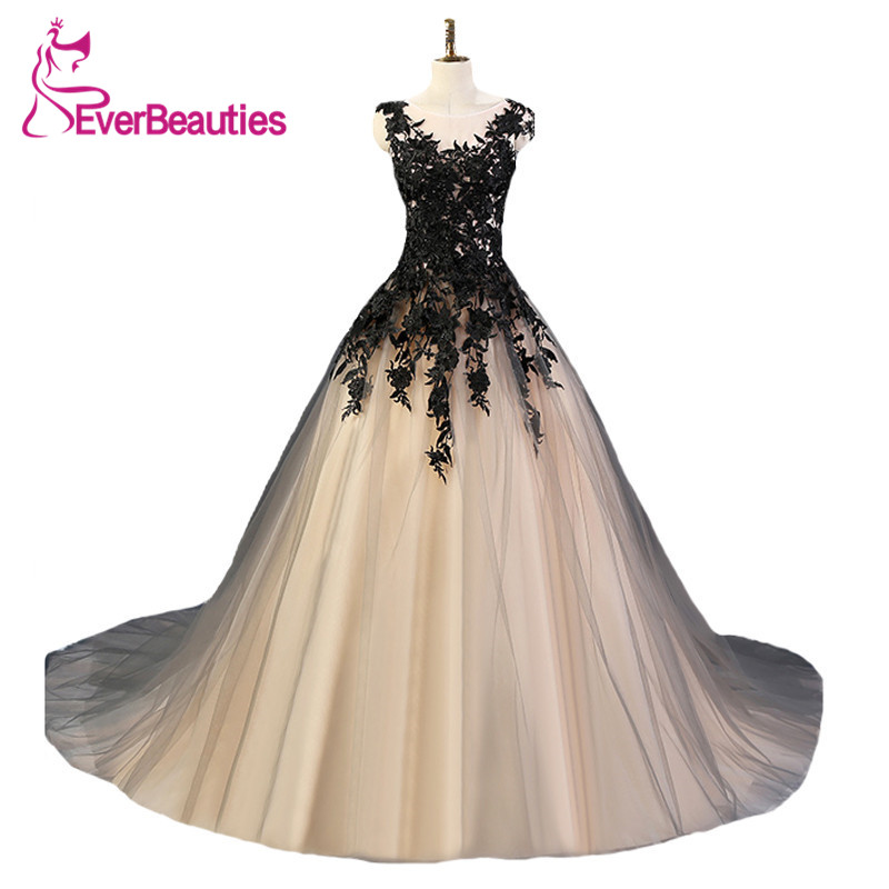 Evening Dress Long 2020 Tulle Lace Appliques Ball Gown Evening Party Dress Sleeveless Robe De Soiree Longue
