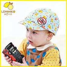 купить lemonkid 2019 Cartoon Bear Baby Caps smile Girl Boys Cap Summer Hats For Boy Infant Sun Hat Sunscreen Baby Spring Baseball Cap дешево
