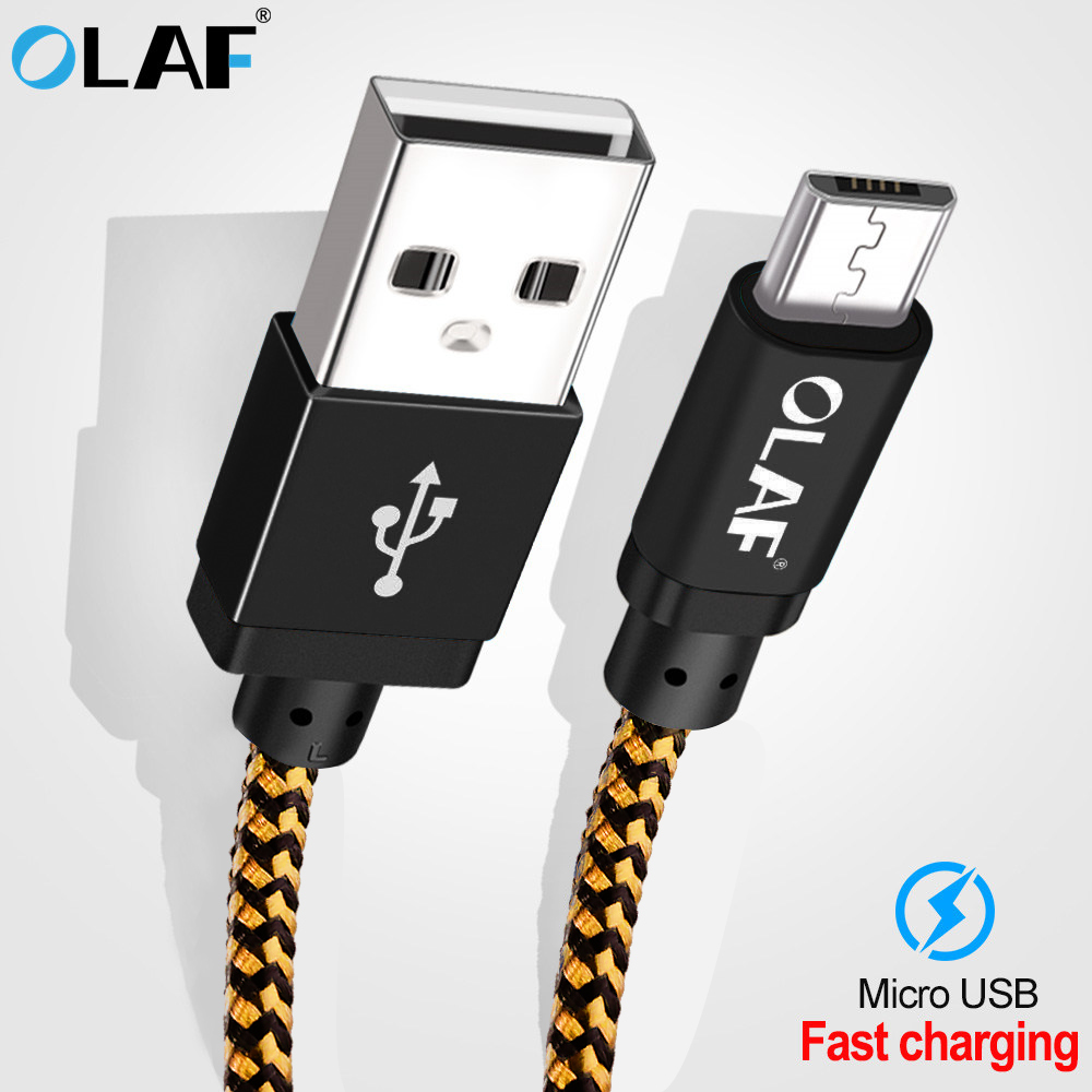 Olaf Braid Micro USB cable 25cm 1m 2m 3m 5V/2A charging for Samsung Xiaomi Fast charging for mobile phone Data Cable Usb Cable