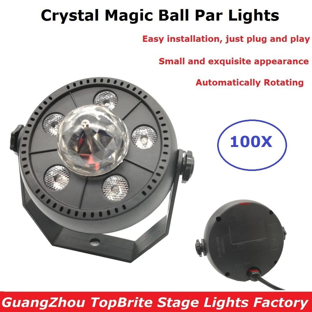 Factory Sales LED Stage Wash Effect Lights RGB Crystal Magic Ball Par Lights 90-240V Perfect Disco L