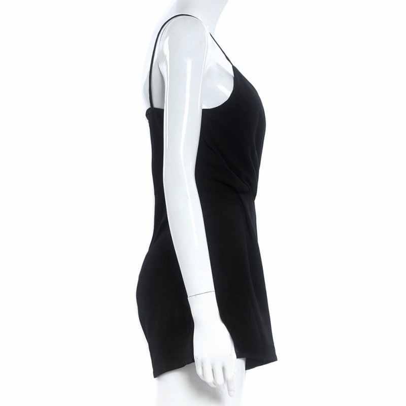ขายส่งขายปลีกฤดูร้อนผู้หญิง V - Neck Sexy Club Solid Elegant Bodycon Jumpsuit Playsuit Romper