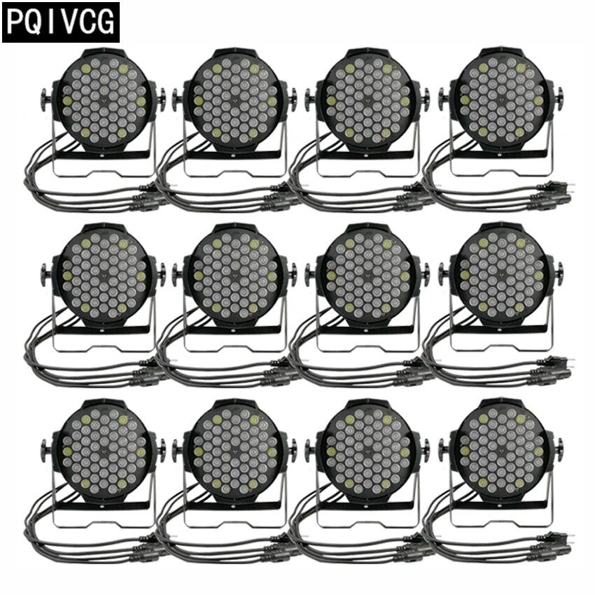 12pcs/ 54x3w rgbw led par lights dmx par led light  flat par profession disco lighting equipment12pcs/ 54x3w rgbw led par lights dmx par led light  flat par profession disco lighting equipment