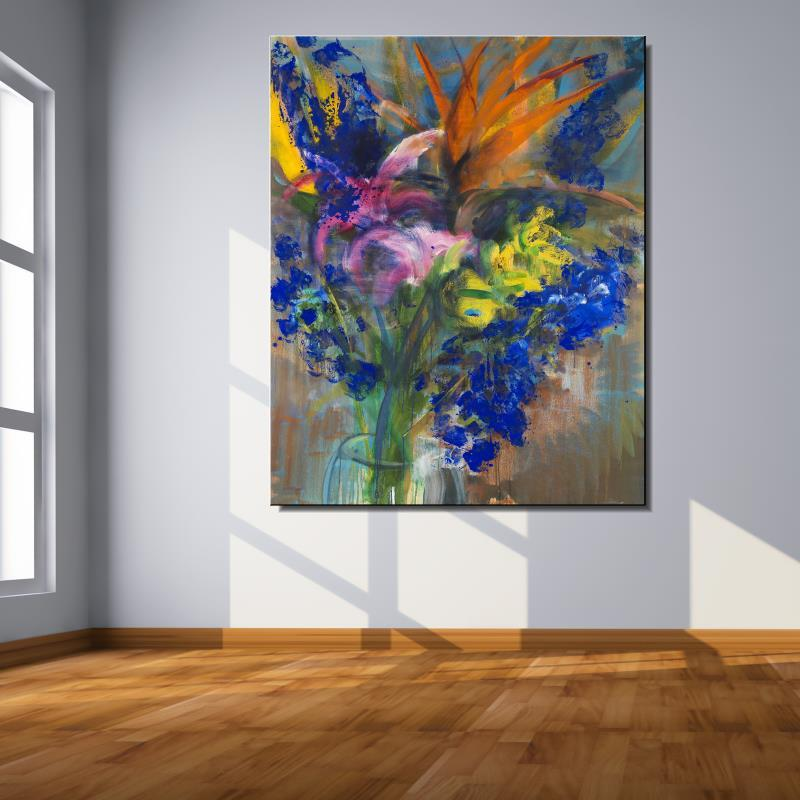 orchid Rose Lily Flower Abstract Frameless drawing Home