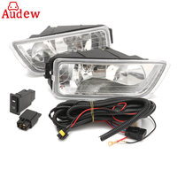 2Pcs H11 55W Car Front Side Fog Lamp Light Assembly With Wiring Harness And Accessories For