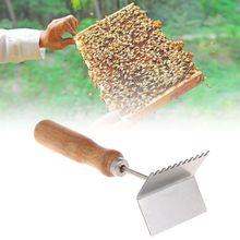 Bee Case Shovel Beekeeping Tools Cleaning Frame Cases Cleaner Scoop Beekeeper Equipment Beehive Wooden Handle Stainless Steel