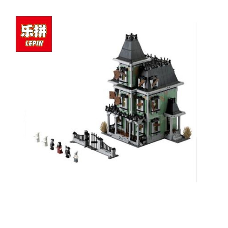 Haunted House Model LEPIN 16007 Creative Series Monster Fighter Building Blocks Bricks Toy for Children kits Compatible 10228 lepin 16007 2141pcs monster fighter the haunted house model set building kits model compatible with 10228 educational toys gifts
