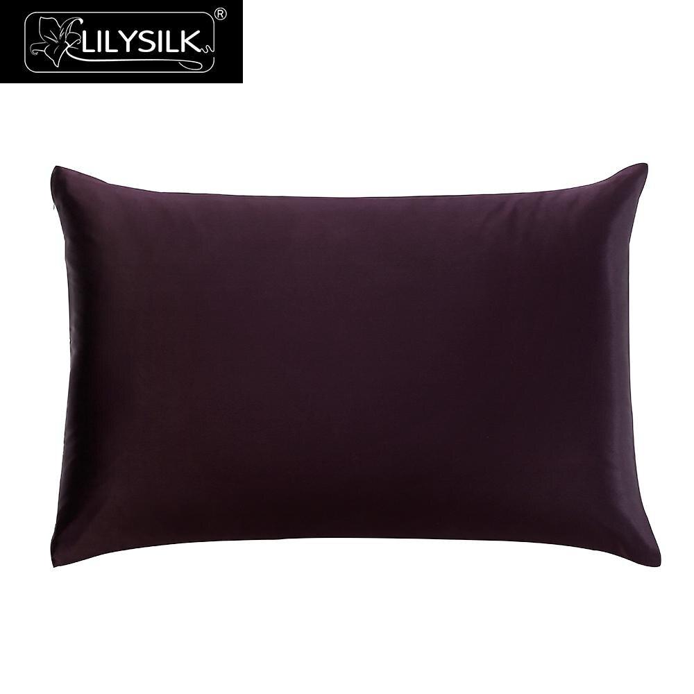 Funda de almohada de seda LilySilk pura 100 Natural para el cabello 25 Momme Terse cremallera de lujo Mulberry belleza textil para el hogar envío gratis-in Funda de almohada from Hogar y Mascotas    1