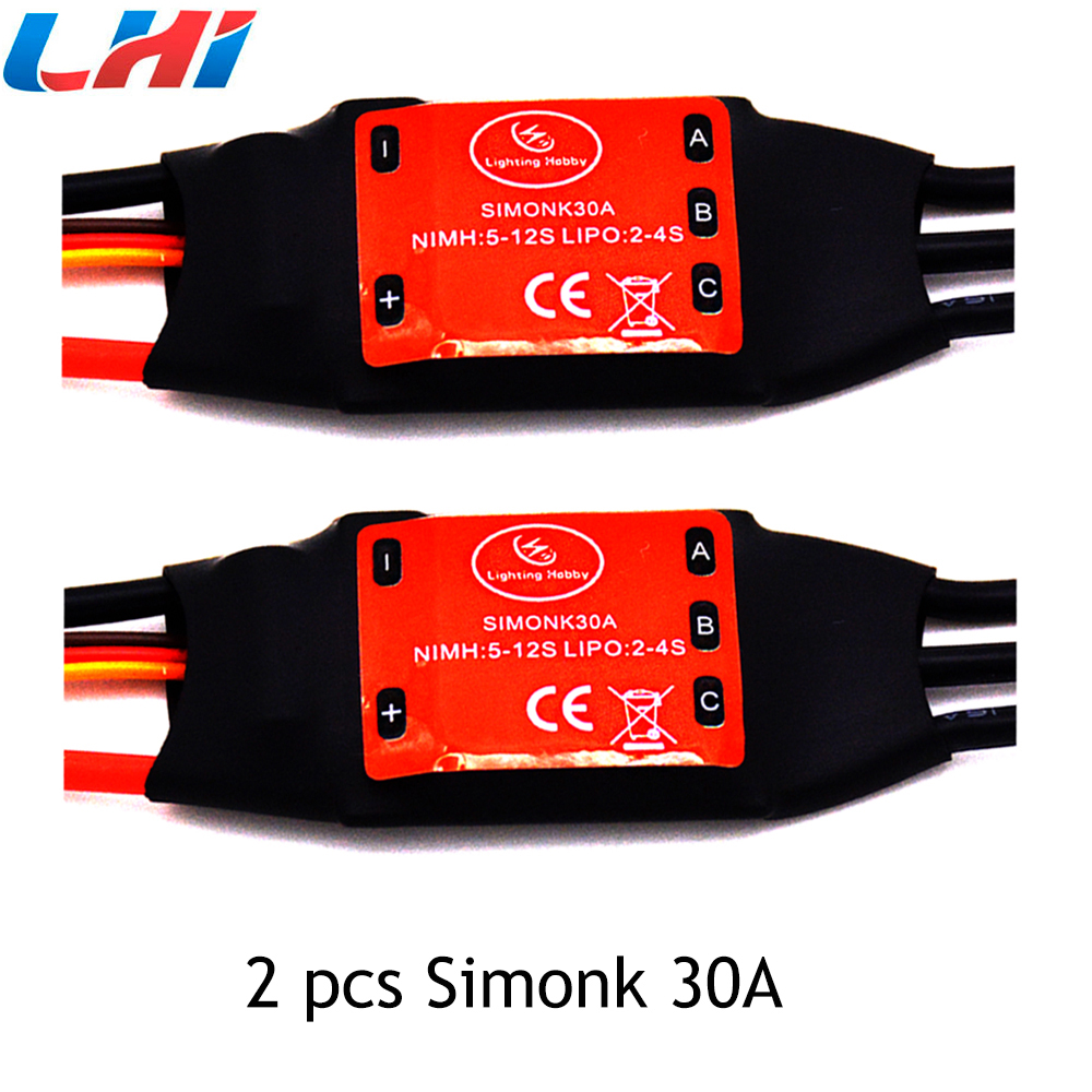 2017 New 2pcs Simonk 30a Time-limited Frame Airplanes Rc Car Lipo Hsp Brushless 450 Helicopter Multicopter Speed Controller Esc