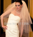 3 Layer White Ivory White Wedding Accessories Veils Formal dress Bridal Veil With Comb