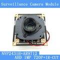 "1MegaPixel 1280*720 AHD CCTV Camera Module Circuit Board , 1/4"" CMOS NVP2431H+ OV9712+ HD IR-CUT dual-filter switch"