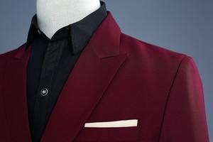 Image 4 - PYJTRL ブランドワイン赤新郎タキシードウェディング歌手スーツダブルブレストスリムフィットスーツウエディングドレスファッションカジュアルスーツ男性