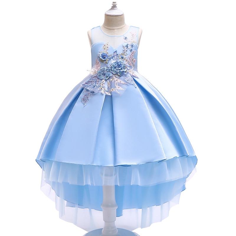 BOTEZAI 2019 new baby girl dress fashion party year flower wedding elegant childrens wear