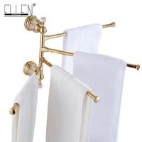 Luxury crystal brass movable towel holder bath towel rack Bathroom Accessories bath hardware EL7024DH