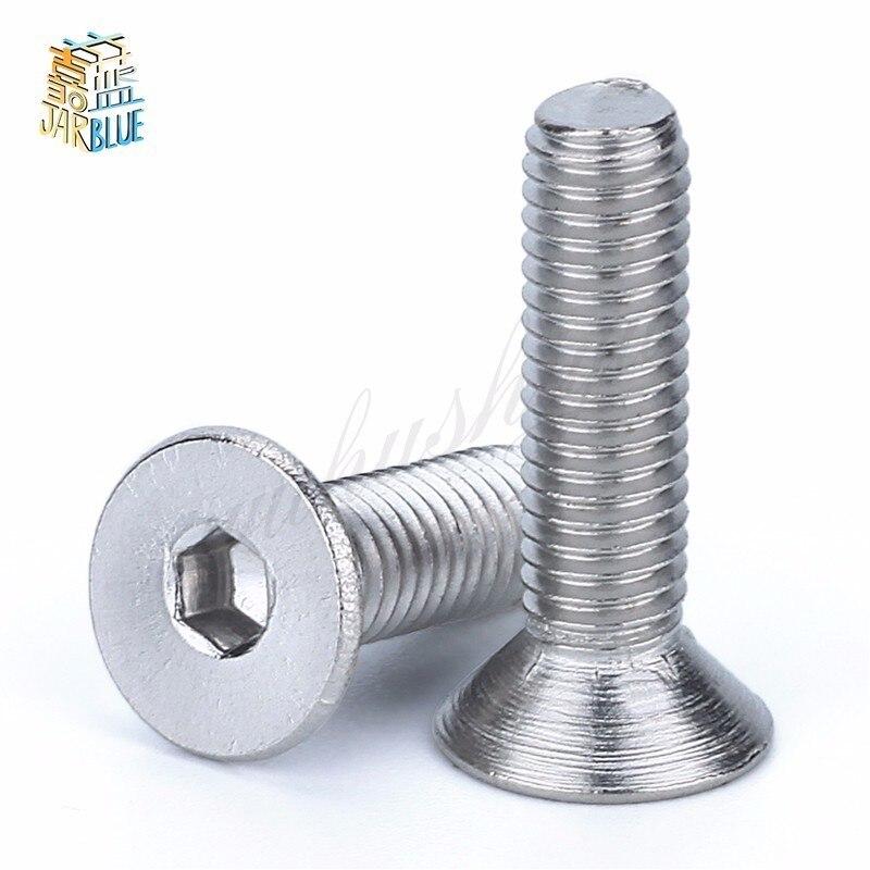 (50 шт./лот) M2, M2.5, M3, M4 * L = 4 ~ 50 мм DIN7991 Нержавеющая сталь A2 Шестигранная розетка с плоской головкой потайная игрушка CSK винт
