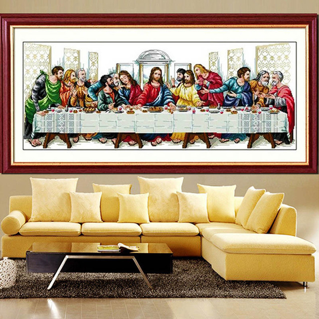 The Last Supper Cross Stitch Cotton Silk Christianity Jesus Twelve ...