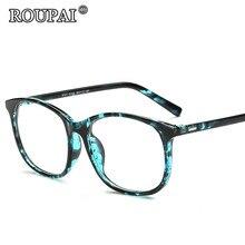 ROUPAI Eye Glasses Frames For Women 2017 Vintage Unisex Spectacle Frame Brand Design Classic Men Male Clear Glasses Eyeglasses