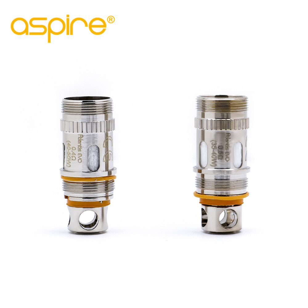 original 5pc-pack Aspire Atlantis EVO Coils for atlantis Evo Tank available resistance 0.4 ohm 0.5ohm краска черная dc14 600 мл dup90115