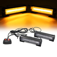 COB LED Strobe Warning Light Car Grille Flashing Lightbar Truck Car Beacon Lamp Amber Red Blue Emergency Traffic light 12V