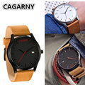 Relogio CAGARNY Brand Quartz watches fashion casual Man clock Luxury Leather Watches Men Wrist watches sale army montre