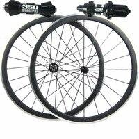 Бесплатная доставка 38 мм углерода сплава тормоз довод велосипед колеса велосипеда дороги колесная 350 s концентратор Черный спицы черные сос