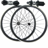 38/50/60mm carbon wheels alloy brake clincher road bicycle wheelset DT350s road hub black aero spokes alloy nipples 23mm 700C