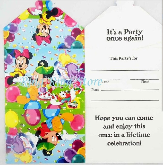 Lovely Mickey Mouse Party Invitation Card For Any Holiday Party