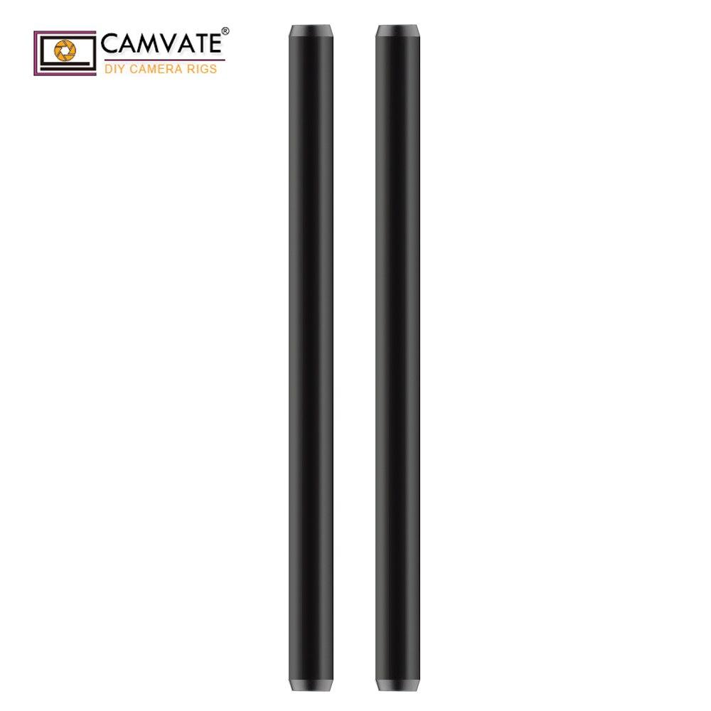 CAMVATE 19mm Aluminum Rod 30cm For DLSR Camera Cage Rig (2 Pack)  C1857CAMVATE 19mm Aluminum Rod 30cm For DLSR Camera Cage Rig (2 Pack)  C1857