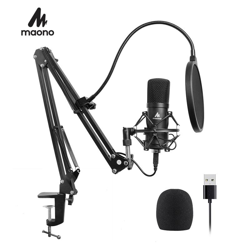 MAONO USB マイクキット 192 125KHZ/24BIT プロポッドキャスト用 PC カラオケ Youtube スタジオ録音 Mikrofon  グループ上の 家電製品 からの マイクロフォン の中 1